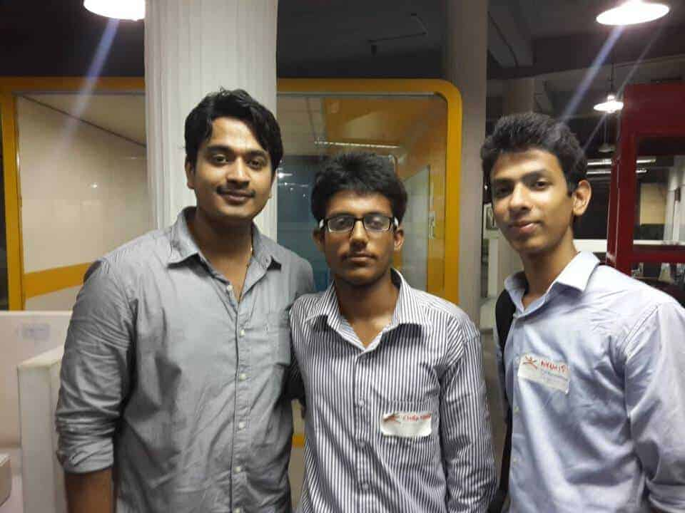 Me with Chiranshu Monga and Ravi Chopra