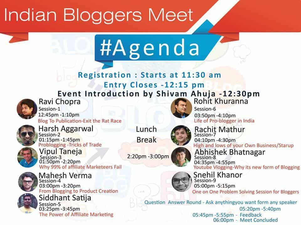 Indian Bloggers Meet Agenda