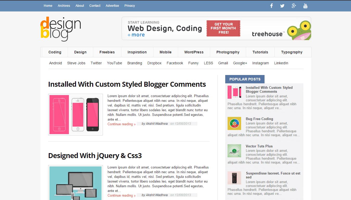 DesignBlog Blogger Template