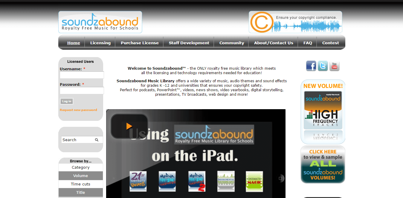 Soundzabound - unblocked music site