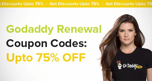 Godaddy Renewal Coupon Codes : Upto 75% OFF