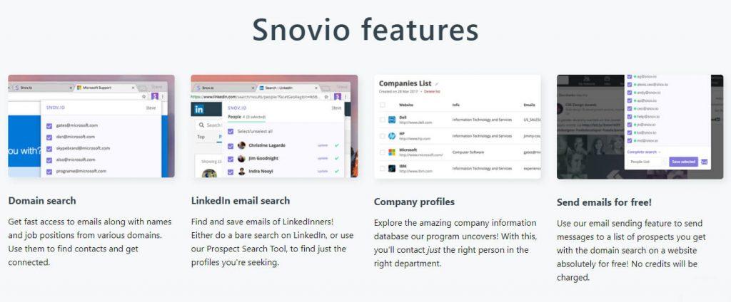 Snovio Features