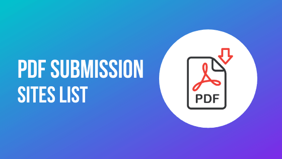 FREE High DA PDF Submission Sites List 2020