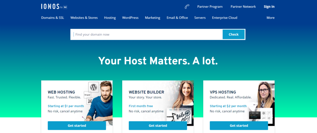 one & one monthly web hosting