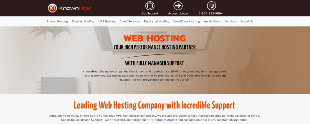 known host month to month web hosting