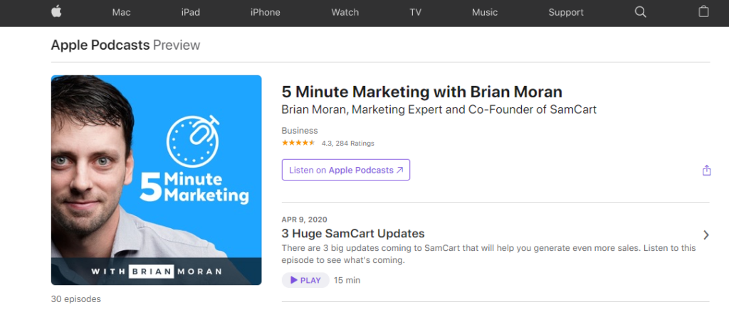 5 Minute Marketing Podcast