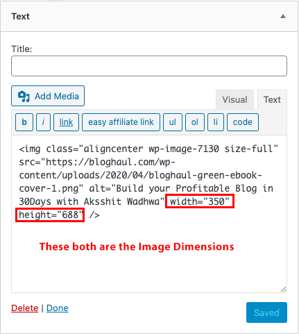 Specify Image Dimensions