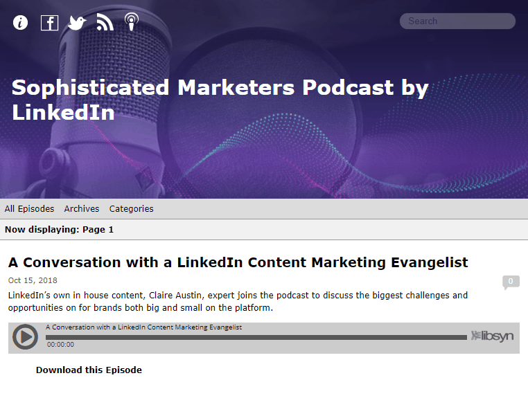 The Sophisticated Marketers Podcast