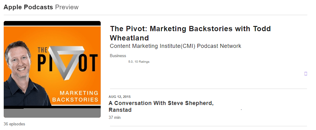 The Pivot by Todd Wheatland Podcast