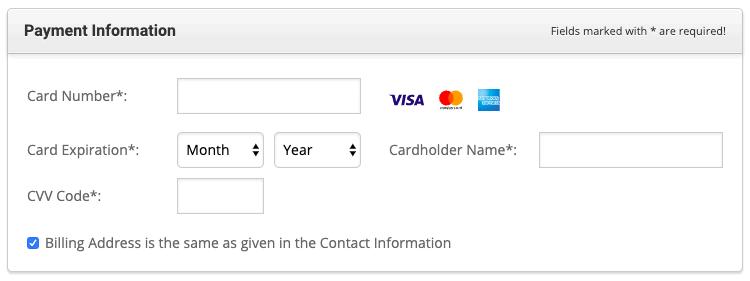 Enter your Card Details