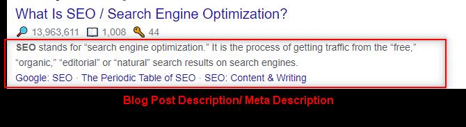 blog post description example