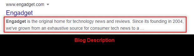 engadget-blog description example