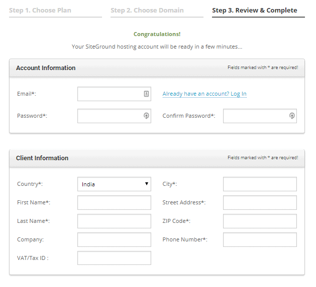 Fill Your Personal details