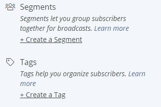 segment and tagging