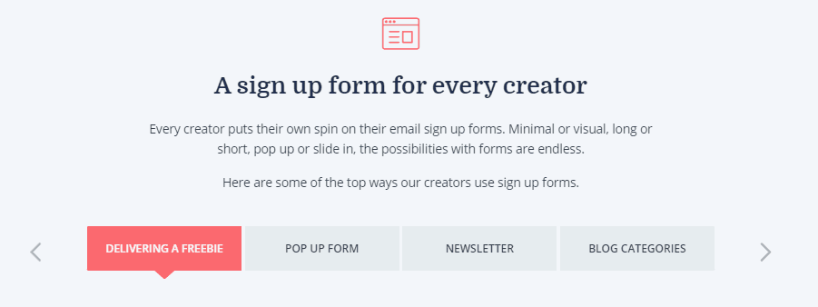 signup forms convertkit