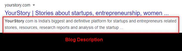 yourstory.com blog description example