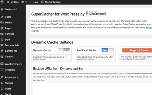 siteground wordpress dashboard